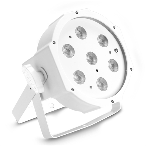 Cameo FLAT PAR 7 x 4 W Tunable White, Hvid